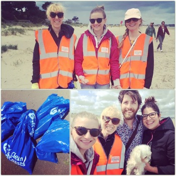 Seastainabilty beach clean team