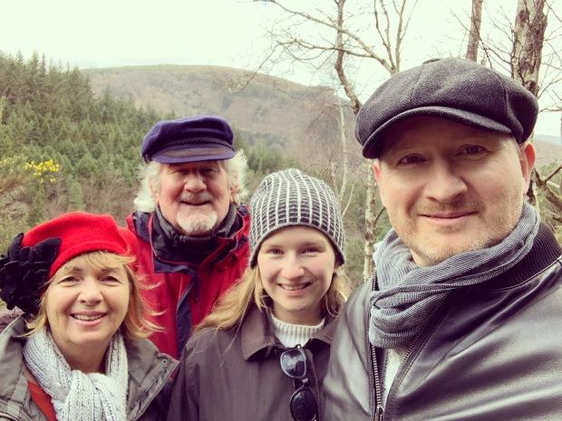 Hiking nature family