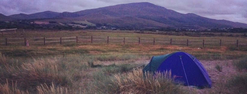 camping wild Ireland's beautiful Coastline County Kerry