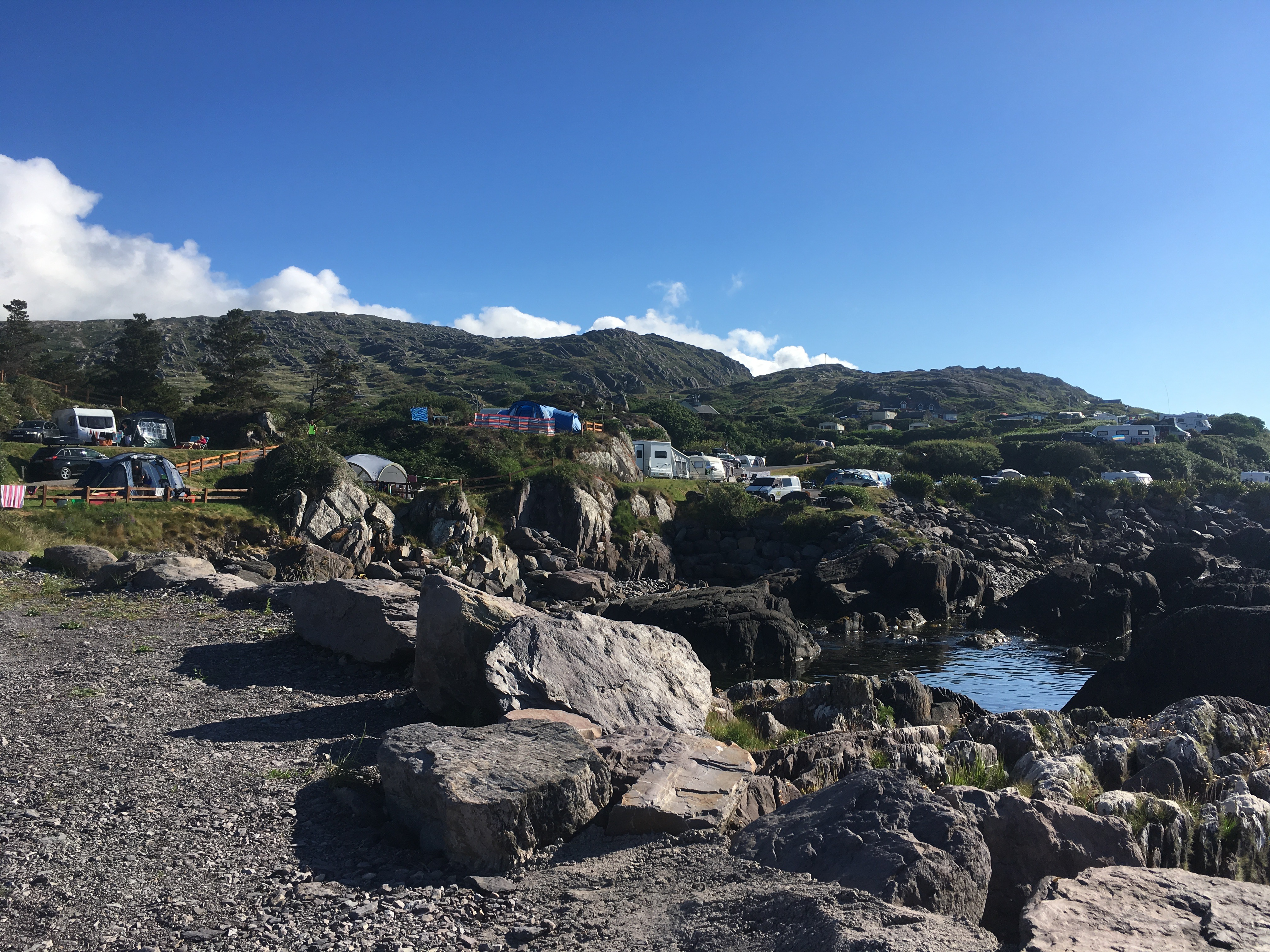 Ireland's beautiful Coastline Wave Crest campsite County Kerry